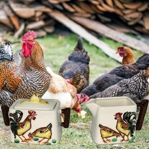 Hen and Chick Sugar and Creamer Set